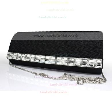 Black Silk Wedding Crystal/ Rhinestone Handbags #LDB03160101