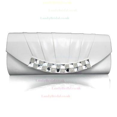Black PU Wedding Crystal/ Rhinestone Handbags #LDB03160104