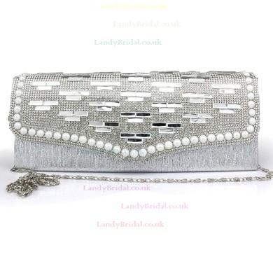 Black Silk Wedding Crystal/ Rhinestone Handbags #LDB03160105