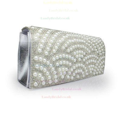 Black Silk Wedding Sequin Handbags #LDB03160106