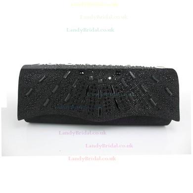 Black Silk Wedding Crystal/ Rhinestone Handbags #LDB03160108