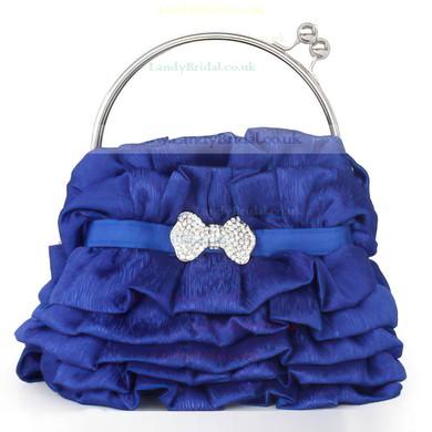 Black Silk Wedding Crystal/ Rhinestone Handbags #LDB03160110
