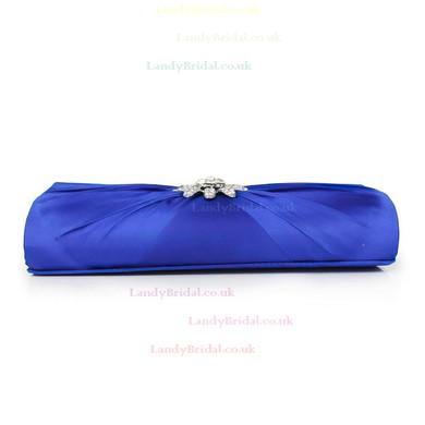 Silver Silk Wedding Crystal/ Rhinestone Handbags #LDB03160111