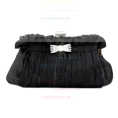 Black Silk Wedding Crystal/ Rhinestone Handbags #LDB03160112