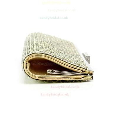 Silver PU Wedding Crystal/ Rhinestone Handbags #LDB03160114