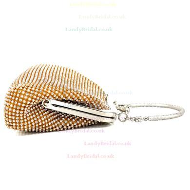 Silver Crystal/ Rhinestone Wedding Crystal/ Rhinestone Handbags #LDB03160115