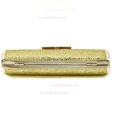 Gold Sparkling Glitter Wedding Crystal/ Rhinestone Handbags #LDB03160116