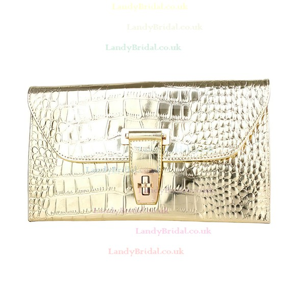 Silver PU Wedding Metal Handbags