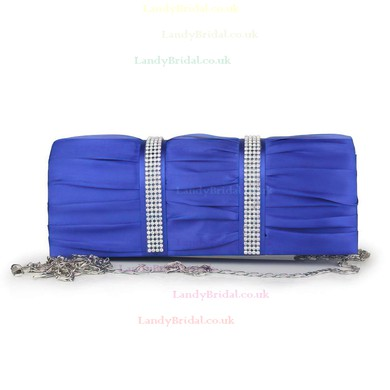 Silver Silk Wedding Crystal/ Rhinestone Handbags #LDB03160119