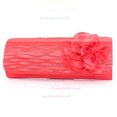 Black Silk Wedding Flower Handbags #LDB03160120