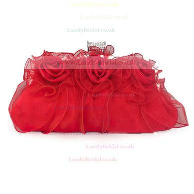 Black Silk Wedding Flower Handbags #LDB03160121