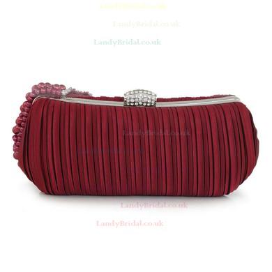 Black Silk Wedding Crystal/ Rhinestone Handbags #LDB03160122