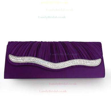 Red Silk Ceremony&Party Crystal/ Rhinestone Handbags #LDB03160123