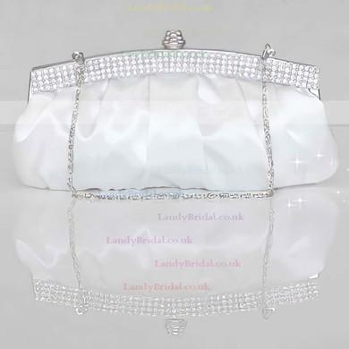 Red Silk Wedding Crystal/ Rhinestone Handbags #LDB03160124