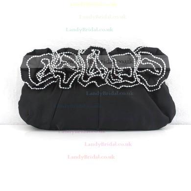 Black Silk Wedding Flower Handbags #LDB03160125