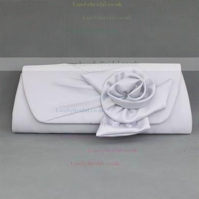 Silver Silk Wedding Flower Handbags #LDB03160128