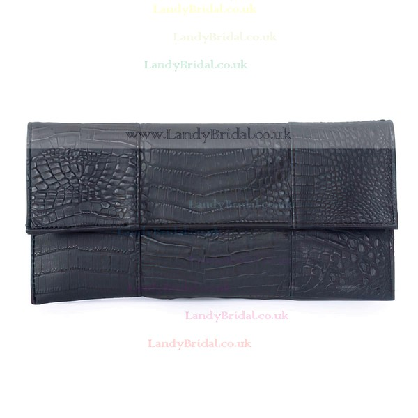 Black PU Wedding Floral Print Handbags