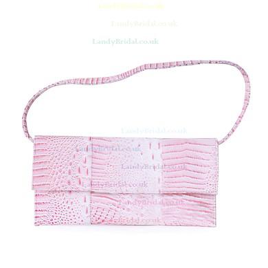 Black PU Wedding Floral Print Handbags #LDB03160129