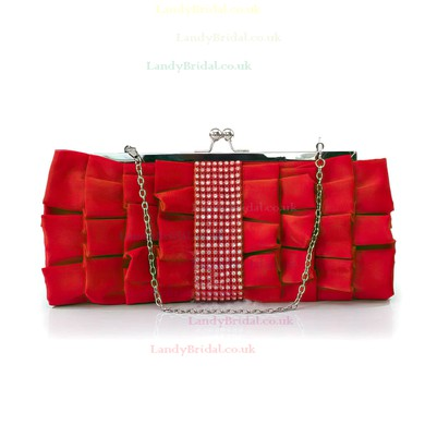 Black Silk Wedding Crystal/ Rhinestone Handbags #LDB03160130