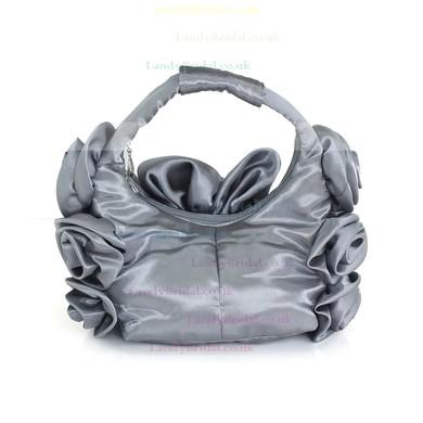 Light gray Silk Ceremony&Party Flower Handbags #LDB03160132