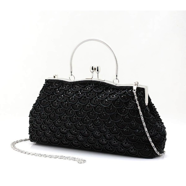 Black Pearl Ceremony & Party Pearl Handbags #LDB03160164