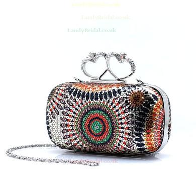 Gold Sequin Ceremony & Party Sequin Handbags #LDB03160165