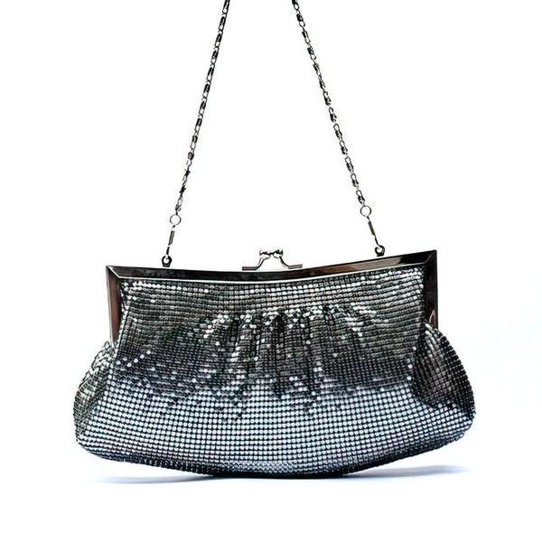 Black Aluminum Ceremony & Party Metal Handbags