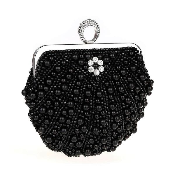 Black Pearl Wedding Pearl Handbags #LDB03160167