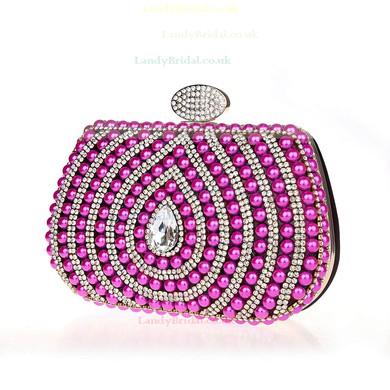 Black Pearl Wedding Crystal/ Rhinestone Handbags #LDB03160169