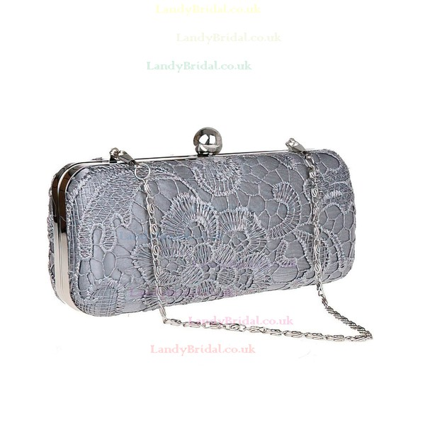 Black Lace Wedding Metal Handbags