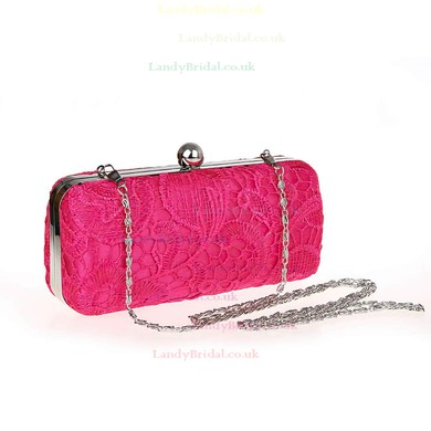 Black Lace Wedding Metal Handbags #LDB03160170