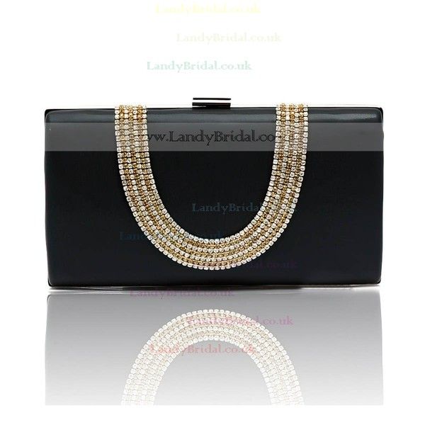 Black PU Wedding Crystal/ Rhinestone Handbags
