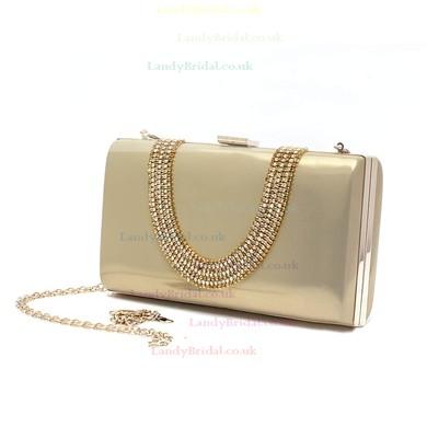 Black PU Wedding Crystal/ Rhinestone Handbags #LDB03160171