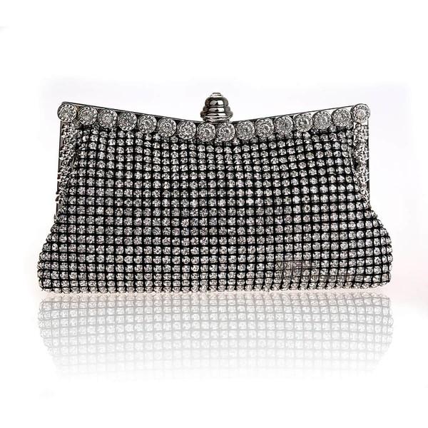 Gold Crystal/ Rhinestone Wedding Crystal/ Rhinestone Handbags #LDB03160172