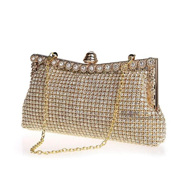 Gold Crystal/ Rhinestone Wedding Crystal/ Rhinestone Handbags