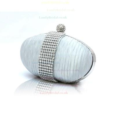 Black Silk Wedding Crystal/ Rhinestone Handbags #LDB03160173