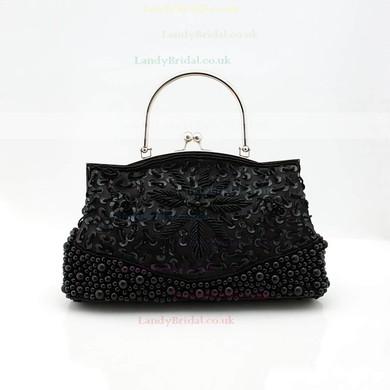 Black Silk Ceremony & Party Pearl Handbags #LDB03160174