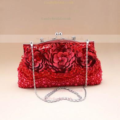 Black Fabric Ceremony & Party Sequin Handbags #LDB03160175