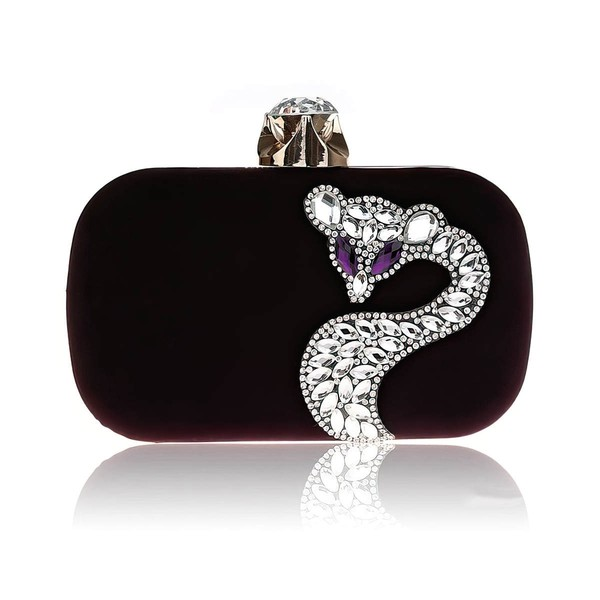 Black Velvet Ceremony & Party Beading Handbags