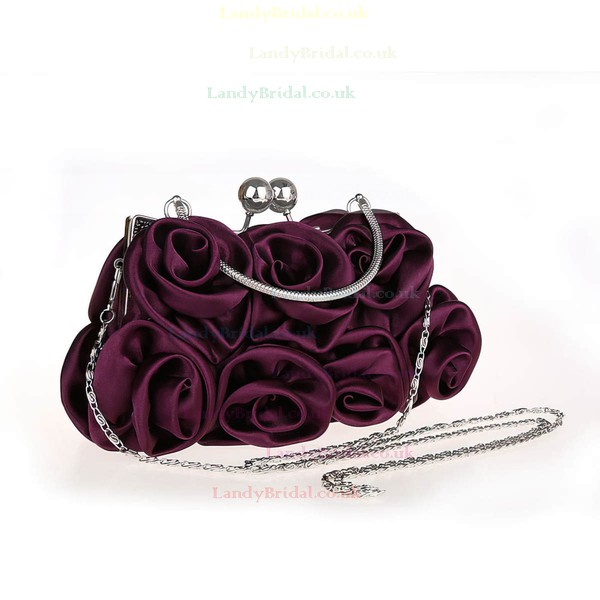 Red Silk Ceremony & Party Metal Handbags