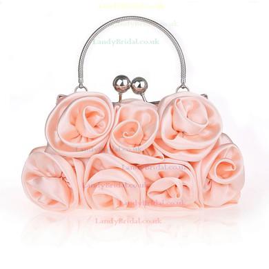 Red Silk Ceremony & Party Metal Handbags #LDB03160183