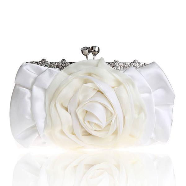 Black Silk Wedding Metal Handbags