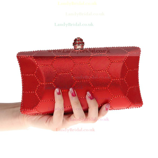 Black Polyester Wedding Beading Handbags