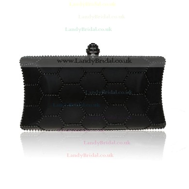 Black Polyester Wedding Beading Handbags #LDB03160185