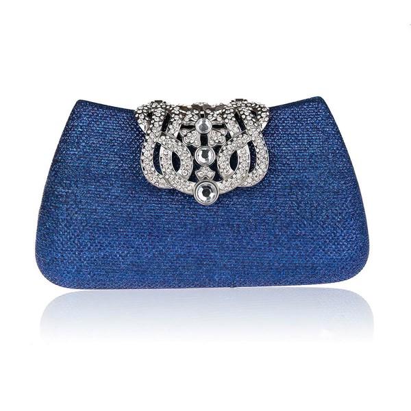 Black Cloth Wedding Crystal/ Rhinestone Handbags
