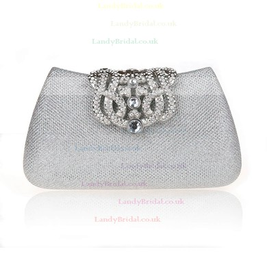Black Cloth Wedding Crystal/ Rhinestone Handbags #LDB03160187