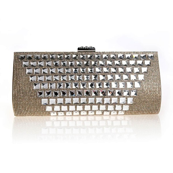 Black Crystal/ Rhinestone Ceremony & Party Crystal/ Rhinestone Handbags #LDB03160190