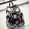 Black PU Casual & Shopping Floral Print Handbags #LDB03160134
