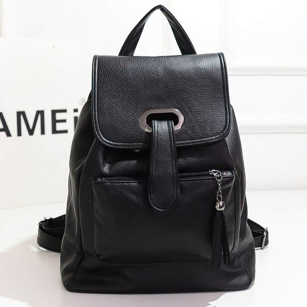 Black PU Casual & Shopping Metal Handbags #LDB03160138