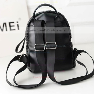 Black PU Casual & Shopping Metal Handbags #LDB03160140